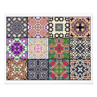 12 Different Tea Bag Tiles - Origami Folding Flyers