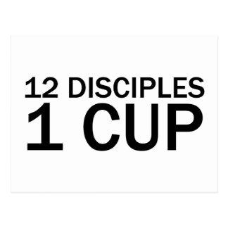 12 DISCIPLES, 1 CUP Funny Last Supper T-Shirt Postcard