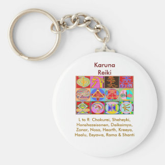 12 diseños de la cura de Reiki n Karuna Reiki Llavero Redondo Tipo Pin