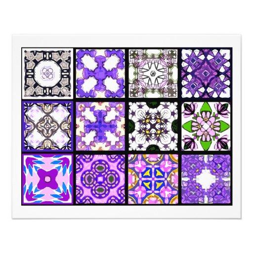 12 diversas tejas de la bolsita de té - plegamient tarjetas publicitarias