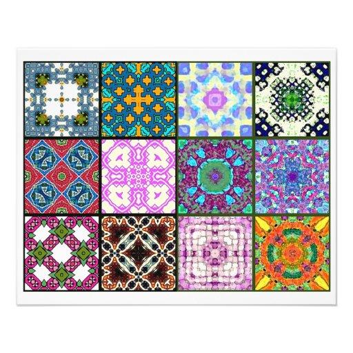 12 diversas tejas de la bolsita de té - plegamient flyer a todo color