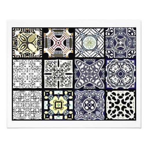12 diversas tejas de la bolsita de té - plegamient tarjetas informativas