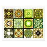 12 diversas tejas de la bolsita de té - plegamient tarjetón