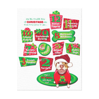 12 Dogs of Christmas Canvas Print