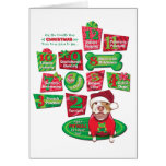 12 Dogs of Christmas Greeting Cards