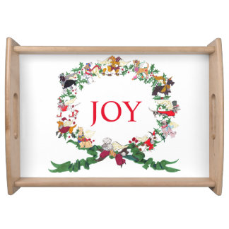 12 Dogs of Christmas Serving Tray