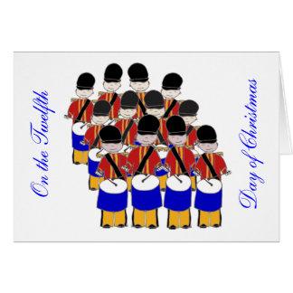 12 Drummers Drumming Card