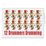 12 Drummers Drumming Cards