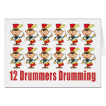 12 Drummers Drumming Cards Greeting Card