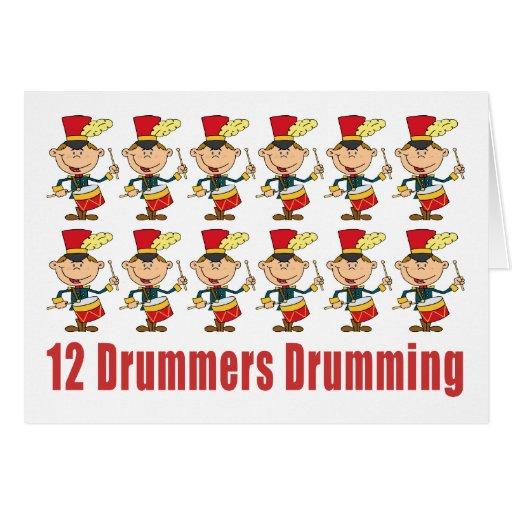 12 Drummers Drumming Cards Greeting Card