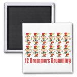 12 Drummers Drumming Magnet