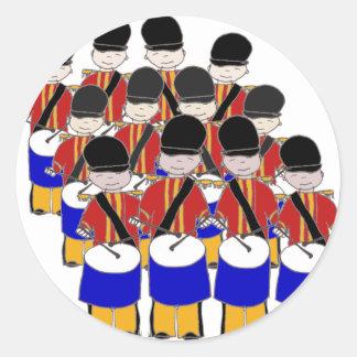 12 Drummers Drumming Classic Round Sticker