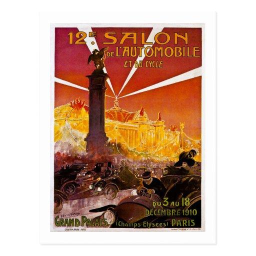12 e Salon de L'Automobile y du Cycle 1910 Tarjetas Postales