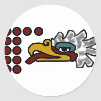 12 Eagle Aztec Day Sign Classic Round Sticker