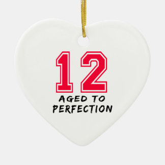 12 envejeció al diseño del cumpleaños de la perfec ornamentos de navidad
