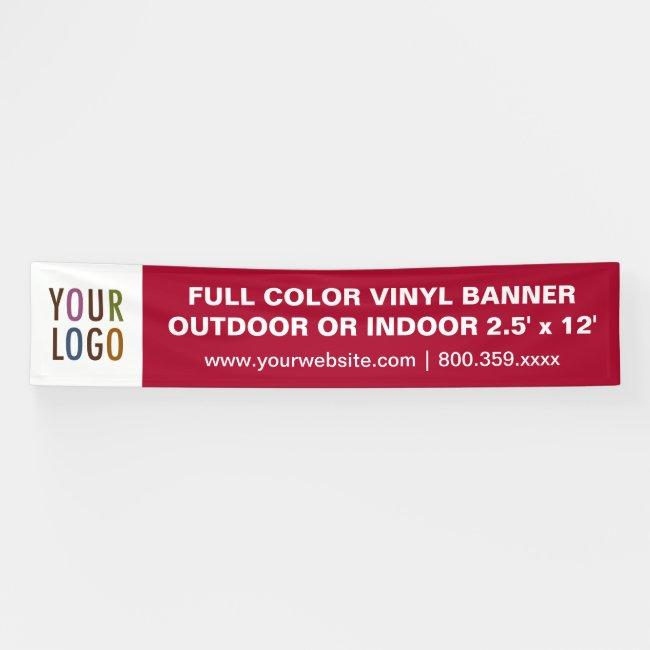 12' Extra Large Vinyl Banner Outdoor or Indoor