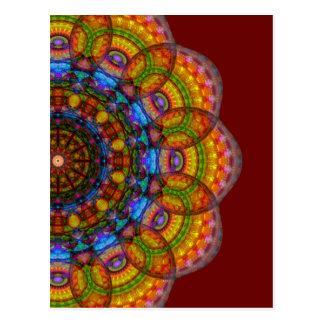 12 Eyes Mandala Postcard