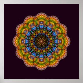 12 Eyes Mandala Poster