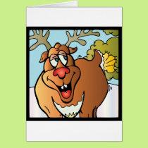 12 Farts of Christmas Reindeer Card