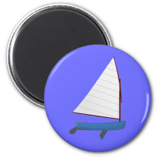 12 Foot Sailing Dinghy 2 Inch Round Magnet