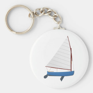 12 Foot Sailing Dinghy Keychain