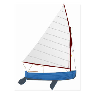 12 Foot Sailing Dinghy Postcard