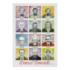 12 French Composers Poster