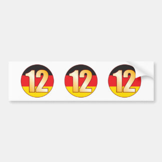 12 GERMANY Gold Bumper Sticker