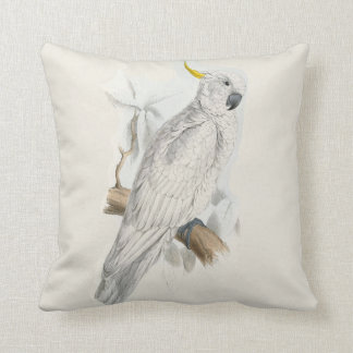 #12-Greater sulfur-crested cockatoo Throw Pillow