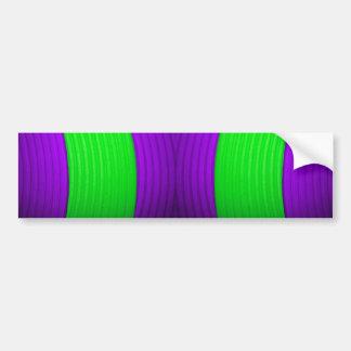 12 Green & Purple Bumper Sticker Car Bumper Sticker