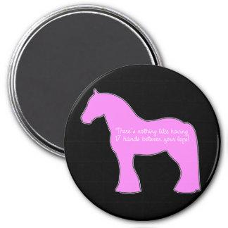 12 Hands Draft Horse 3 Inch Round Magnet