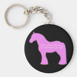 12 Hands Draft Horse Basic Round Button Keychain