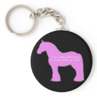 12 Hands Draft Horse Key Chain