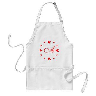12 hearts adult apron