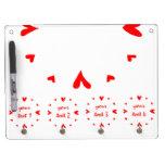12 hearts Dry Erase Board