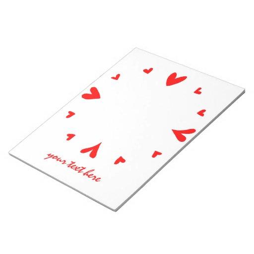 12 hearts notepad