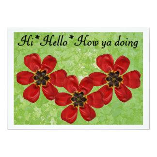 12 Hi Hello How ya doing Card