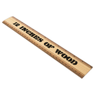 12 inches of wood ruler