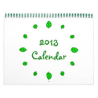 12 leaves 2013 Calendar