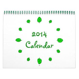 12 leaves 2014 Calendar