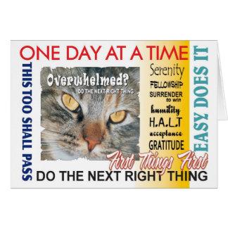 12 lemas de la recuperación del paso tarjeta de felicitación