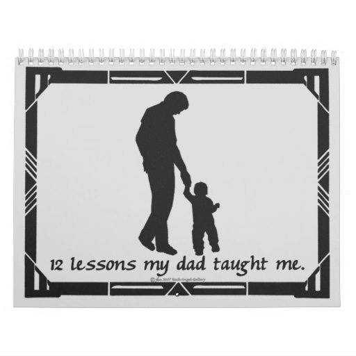 12 Lessons from Dad Calendar