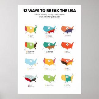 12 maneras de romper los E.E.U.U. Póster