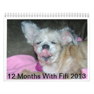 12 meses con los pescados de Fifi Calendario De Pared