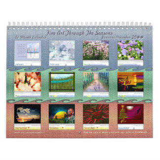 12 meses de bella arte con las estaciones calendario