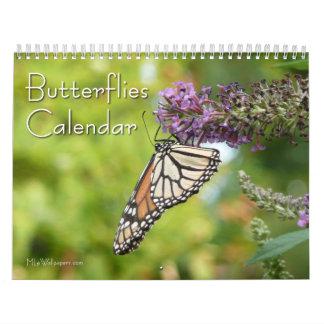 12 meses de fotografía hermosa de las mariposas calendarios