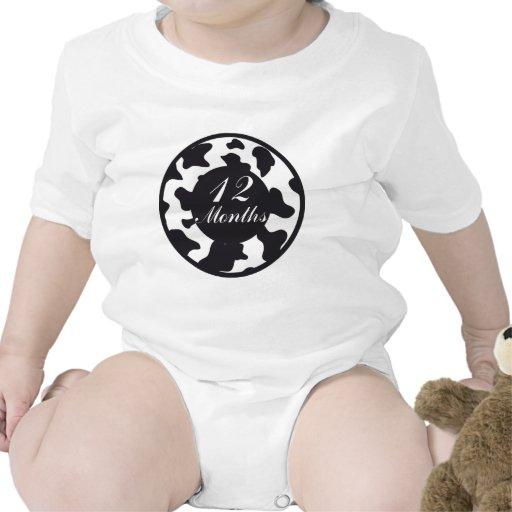 12 meses de jalón del estampado de animales traje de bebé