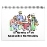 12 meses de una comunidad accesible calendarios de pared