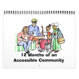 12 meses de una comunidad accesible calendario