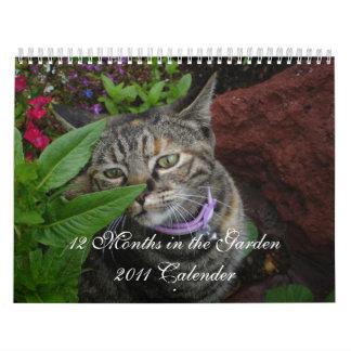 12 meses en el jardín calendario